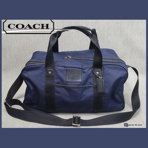 Coach Voyager Navy Duffle Gym Travel Bag F70504